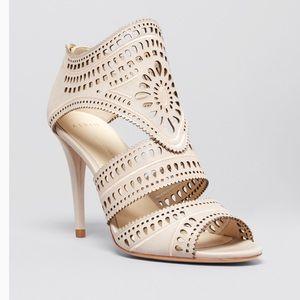 Aerin Lia Laser Cut Sandal Heels